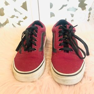 EUC Vans Maroon and Black Sneakers 7